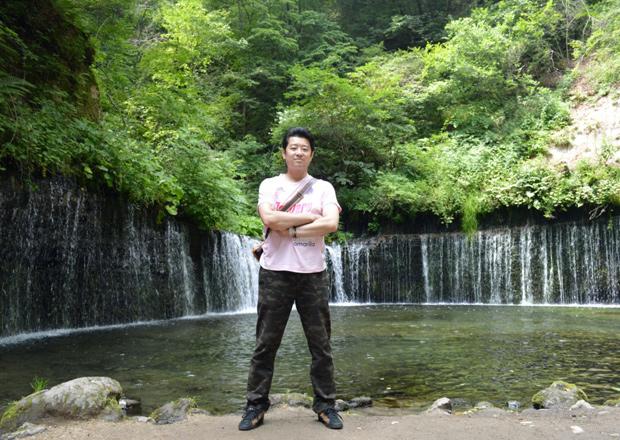 オフショット:軽井沢、白糸の滝にて