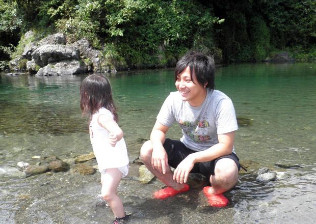 オフショット:埼玉県、秋川渓谷にて