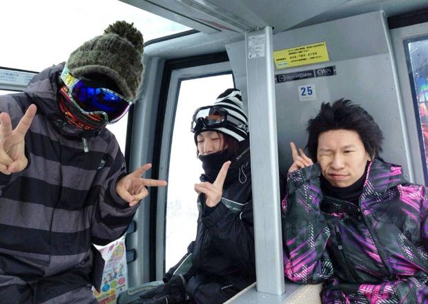 オフショット:新潟県、苗場スキー場にて