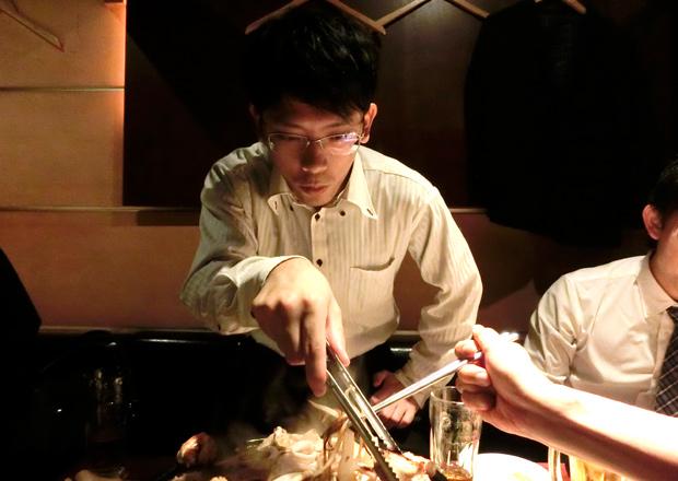 オフショット:上野の有名焼肉店にて
