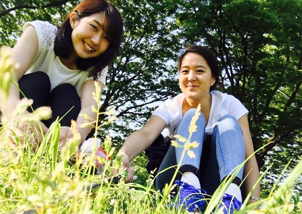 オフショット:東京都、渋谷区の代々木公園にて