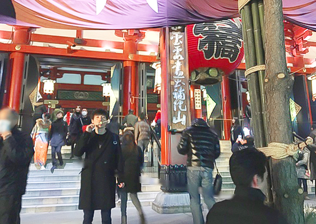オフショット:東京都、浅草寺にて