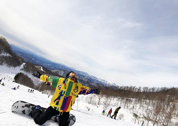 オフショット:新潟県、上越国際スキー場にて