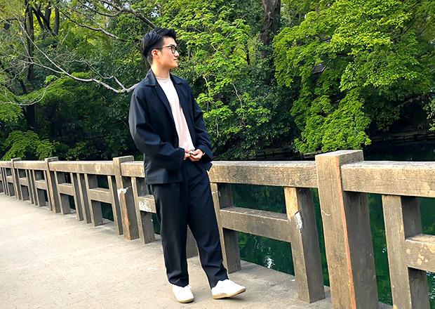 オフショット:井の頭公園、弁天橋の上にて