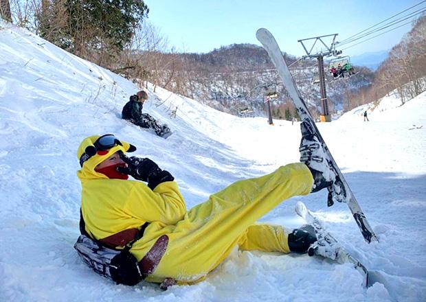 オフショット:群馬県の川場スキー場、ゲレンデにて