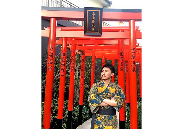 オフショット:大阪旅行、温泉施設にて