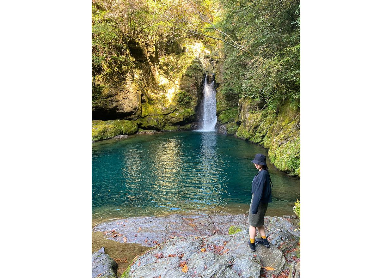 オフショット:徳島県、琵琶の滝にて